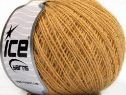 Lot of 8 Skeins Ice Yarns WOOL CORD SPORT (50% Wool) Hand Knitting Yarn Gold
