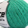 Lot of 8 Skeins Ice Yarns WOOL CORD SPORT (50% Wool) Yarn Mint Green