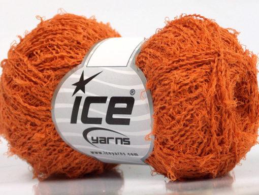 Lot of 8 Skeins Ice Yarns ALLORO COTTON (80% Cotton) Hand Knitting Yarn Orange