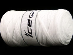 250 gr ICE YARNS JUMBO COTTON RIBBON (100% Recycled Cotton) Yarn Optical White