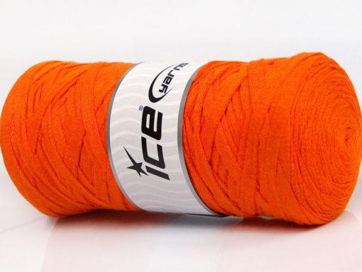 250 gr ICE YARNS JUMBO COTTON RIBBON (100% Recycled Cotton) Yarn Orange