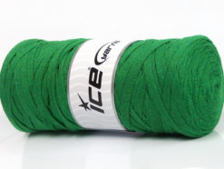 250 gr ICE YARNS JUMBO COTTON RIBBON (100% Recycled Cotton) Yarn Green