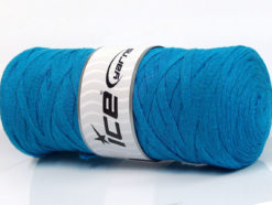 250 gr ICE YARNS JUMBO COTTON RIBBON (100% Recycled Cotton) Yarn Turquoise