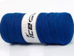 250 gr ICE YARNS JUMBO COTTON RIBBON (100% Recycled Cotton) Yarn Dark Blue