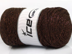 250 gr ICE YARNS MACRAME COTTON GLITZ (90% Cotton) Yarn Brown Copper