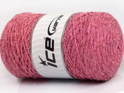 250 gr ICE YARNS MACRAME COTTON GLITZ (90% Cotton) Yarn Light Pink