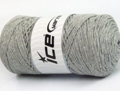 250 gr ICE YARNS MACRAME COTTON (100% Cotton) Hand Knitting Yarn Light Grey