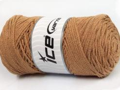 250 gr ICE YARNS MACRAME COTTON BULKY (100% Cotton) Yarn Cafe Latte