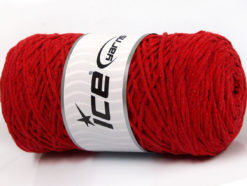 250 gr ICE YARNS MACRAME COTTON (100% Cotton) Hand Knitting Yarn Red