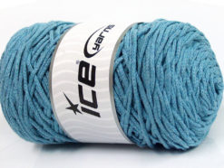 250 gr ICE YARNS MACRAME COTTON BULKY (100% Cotton) Yarn Light Blue