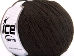 Lot of 8 Skeins Ice Yarns WOOL CORD SPORT (50% Wool) Yarn Dark Brown