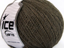 Lot of 8 Skeins Ice Yarns WOOL CORD SPORT (50% Wool) Yarn Dark Camel