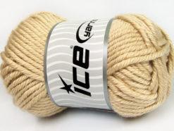 Lot of 2 x 200gr Skeins Ice Yarns ATLAS JUMBO Hand Knitting Yarn Beige