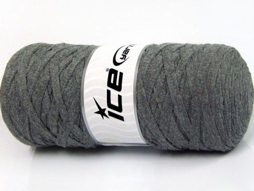 250 gr ICE YARNS JUMBO COTTON RIBBON (100% Recycled Cotton) Yarn Grey