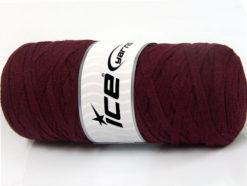 250 gr ICE YARNS JUMBO COTTON RIBBON (100% Recycled Cotton) Yarn Maroon