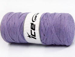 250 gr ICE YARNS JUMBO COTTON RIBBON (100% Recycled Cotton) Yarn Lilac