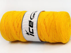 250 gr ICE YARNS JUMBO COTTON RIBBON (100% Recycled Cotton) Yarn Yellow
