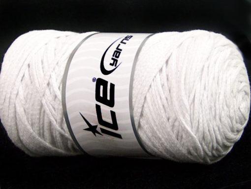 250 gr ICE YARNS MACRAME COTTON BULKY (100% Cotton) Hand Knitting Yarn White