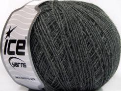 Lot of 8 Skeins Ice Yarns ACRYL CORD FINE Hand Knitting Yarn Dark Grey