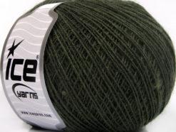 Lot of 8 Skeins Ice Yarns ACRYL CORD FINE Hand Knitting Yarn Dark Khaki