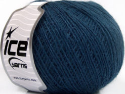 Lot of 8 Skeins Ice Yarns ACRYL CORD FINE Hand Knitting Yarn Blue
