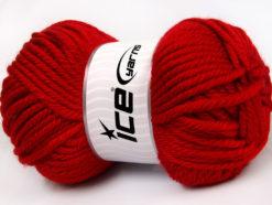 Lot of 2 x 200gr Skeins Ice Yarns ATLAS JUMBO Hand Knitting Yarn Red