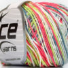 Lot of 8 Skeins Ice Yarns VENICE Yarn Jeans Blue Grey Neon Green Neon Pink White