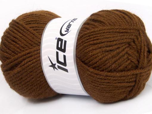 Lot of 4 x 100gr Skeins Ice Yarns ALPACA CLASSIC BULKY (25% Alpaca 25% Wool) Yarn Brown
