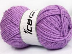 Lot of 4 x 100gr Skeins Ice Yarns ALPACA CLASSIC BULKY (25% Alpaca 25% Wool) Yarn Lilac