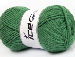 Lot of 4 x 100gr Skeins Ice Yarns ALPACA CLASSIC BULKY (25% Alpaca 25% Wool) Yarn Green