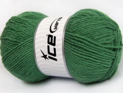 Lot of 4 x 100gr Skeins Ice Yarns ALPACA CLASSIC (25% Alpaca 25% Wool) Yarn Green