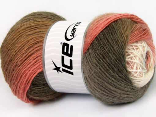 Lot of 4 x 100gr Skeins Ice Yarns ALPACA ACTIVE (20% Alpaca 20% Wool) Yarn Camel Shades Pink Shades White