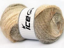 Lot of 4 x 100gr Skeins Ice Yarns MOHAIR PASTEL (10% Mohair 15% Wool) Yarn Cream Beige Camel