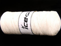250 gr ICE YARNS JUMBO COTTON RIBBON (100% Recycled Cotton) Yarn Ecru