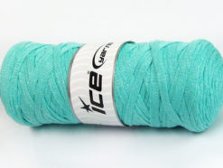 250 gr ICE YARNS JUMBO COTTON RIBBON (100% Recycled Cotton) Yarn Mint Green