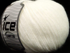 Lot of 8 Skeins Ice Yarns BAMBOO SOFTAIR (15% Bamboo) Hand Knitting Yarn White