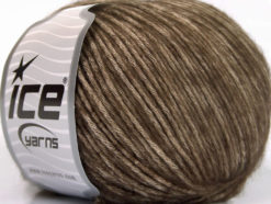 Lot of 8 Skeins Ice Yarns BAMBOO SOFTAIR (15% Bamboo) Yarn Brown Beige