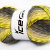 Lot of 4 x 100gr Skeins Ice Yarns HARMONY Yarn Neon Green Grey Shades Brown Shades Khaki