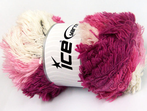 Lot of 4 x 100gr Skeins Ice Yarns LAMBKIN COLOR Yarn Pink Shades White