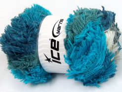 Lot of 4 x 100gr Skeins Ice Yarns LAMBKIN COLOR Yarn Turquoise Teal Grey White