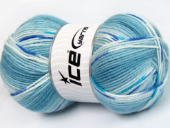 Lot of 4 x 100gr Skeins Ice Yarns BABY DESIGN Hand Knitting Yarn Blue Shades
