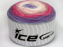 Lot of 3 x 100gr Skeins Ice Yarns CAKES BABY FINE Yarn Lilac Shades Pink Shades White