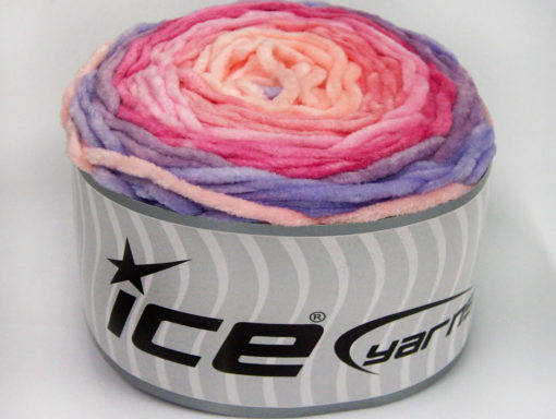 Lot of 2 x 150gr Skeins Ice Yarns CAKES CHENILLE BABY Yarn Lilac Shades Pink Shades Salmon