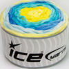 Lot of 2 x 150gr Skeins Ice Yarns CAKES CHENILLE BABY Yarn Yellow Shades Turquoise Shades
