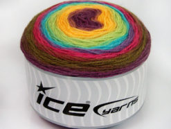 Lot of 2 x 150gr Skeins Ice Yarns CAKES WOOL DK (30% Wool) Yarn Maroon Lilac Turquoise Green Shades Yellow