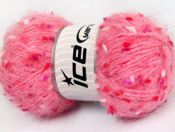 Lot of 3 x 100gr Skeins Ice Yarns BONIBON Hand Knitting Yarn Pink Shades