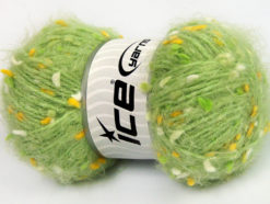 Lot of 3 x 100gr Skeins Ice Yarns BONIBON Hand Knitting Yarn Green Gold White