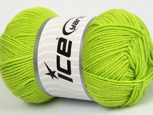 Lot of 4 x 100gr Skeins Ice Yarns BAMBOO BABY (60% Bamboo) Yarn Green