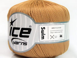 Lot of 6 Skeins Ice Yarns SWIM Hand Knitting Yarn Camel
