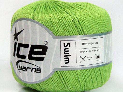 Lot of 6 Skeins Ice Yarns SWIM Hand Knitting Yarn Light Green